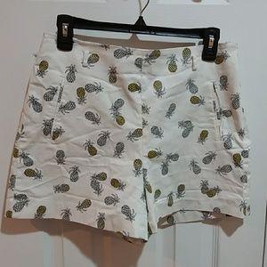 Zara Basic Pineapple Print Shorts Sz L
